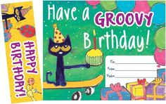 Pete the Cat® Groovy Birthday Bookmark Awards