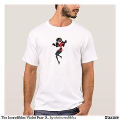 The Incredibles Violet Parr Disney T-Shirt. Awesome Disney The Incredibles items to personalize. #disney #theincredibles #birthday #gifts #personalize #shopping
