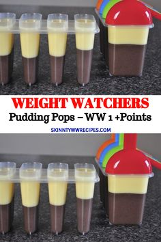 Pudding Pops – WW 1 +Points // recipe for weight loss weightloss, diet for weight loss, loss food recipes, recipes Weight Watchers Puddings, Weight Watchers Smart Points, Weight Watchers Desserts, Weight Watchers Kids Meals, Skinny Recipes, Ww Recipes, Pudding Recipes, Pudding Desserts, Cleanse Recipes