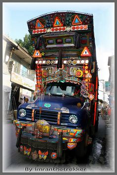 Decorated colorful truck of Pakistan