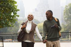 Couple Walking in City, New York City, New York, USA