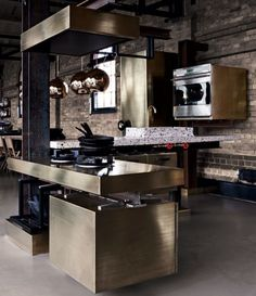 Industrial: Steel, Stainless, Wood, Brick, Concrete  Modern Industrial Loft and Kitchen Design. Renovation Inspiration. Urban Living. City Life.