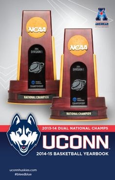 Now available: 2014-15 UConn Men's and Women's Basketball Yearbook: Dual National Champions #bleedblue #uconn #huskies @uconnhuskies