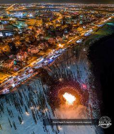 Feu de nouvelle année 2016 à Reykjavik.