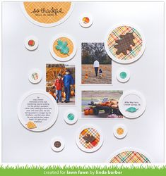 the Lawn Fawn blog: A Perfectly Lovely Fall Scrapbook Page by Linda!