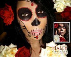 Halloween makeup -- Day of the dea girl