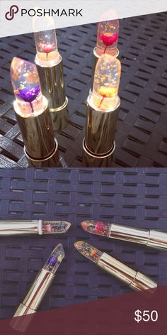 Kailijumei lipstick Set of 4 Gorgeous 100% Authentic Kailijumei Lipsticks. All 4 shades! Kailijumei is a color changing lipstick with a real dry flower inside. kailijumei Makeup Lipstick
