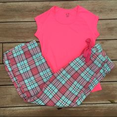 Pajama Bundle from PINK Flannel pajama pants are a small from Old Navy! Top is from Target and a XS. Both in great condition! Ships Immediately! PINK Victoria's Secret Intimates & Sleepwear Pajamas