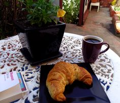Black coffee and Croissant from Filou's, cause sometimes the simplest things are just the best!