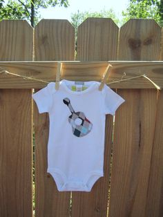 applique guitar (or anything) on shirt/onesie