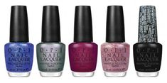 Some of my favorite OPI colors are from the Katy Perry collection...The One That Got Away (the purple-y color in the middle) & Black Shatter