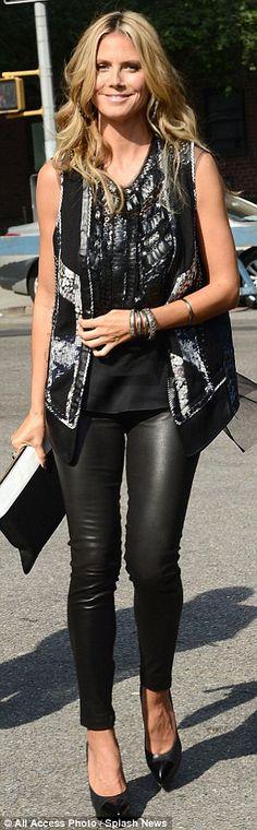 Heidi Klum @ 2014 NYFW - BCBG Max Azria runaway show