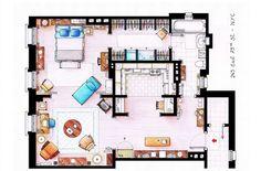 A quoi ressemblent les appartements de Dexter, Carrie Bradshaw ou des Simpson vus d'en haut ?