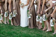 Lanterns for bridesmaids. Photo from Taryn + Dan collection by Jordan DeNike Photography