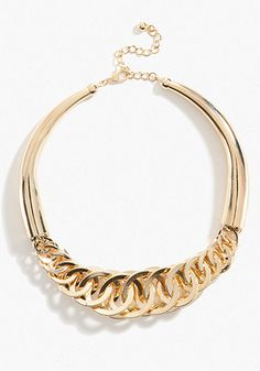 bebe | Interlocked Link Collar Necklace - Jewelry - View All