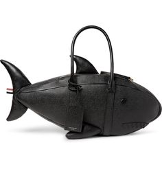 This <a href='http://www.mrporter.com/mens/Designers/Thom_Browne'>Thom Browne</a> bag resembles a shark - a fitting choice, considering the label's Spring '17 runway show was backed by the theme tune from <i>Jaws</i>. Expertly crafted in Italy from robust pebble-grain leather, it's designed with tonal features - including a toothy grin - and is padded at the tail and fins to ensure they won't wilt over ti...