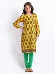 #Kurti #Style- #Yellow Available at our store Be the icon in a simple style with these absolutely 'too good ones' #casuals #shopping #femalewears #dresses #indianstyle #FConnexions