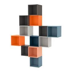 EKET vægmonteret skabskombination, multifarvet Længde: 70 cm Bredde: 175 cm Dybde: 35 cm
