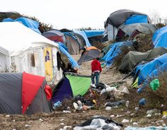 "Thousands of migrants camped out at a makeshift camp in Calais dubbed the ""new Jungle"" could be at risk of exposure to dangerous asbestos, a Channel 4 News investigation has found. Calais Jungle, Calais France, Hungry Children, Alternative Christmas Tree, Refugee Crisis, Homeless Man, A Level Art, Political Events, Slums"