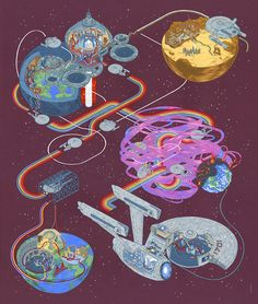 Cartography, Andrew DeGraff's Solo Art Show of Illustrated Maps Based on Films at Gallery1988 in Los Angeles