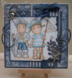 Pirate Edwin and Tilda, Fairy Tale Collection, Magnolia stamps