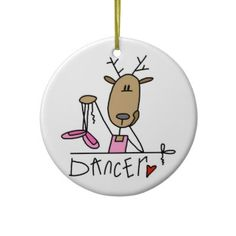 Dancer the Reindeer Christmas Keepsake Ornament by christmasshop   Click on photo to purchase. Check out all current coupon offers and save! http://www.zazzle.com/coupons?rf=238785193994622463&tc=pin