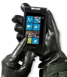 Men's Touchscreen Casual Leather Gloves: Gloves and Mittens   Free Shipping at L.L.Bean
