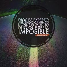 Para Dios no hay nada imposible .  #conectadosconjesus #imagenescristianas #arte