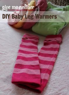 Simple and quick - DIY baby leg warmers from knee socks - less than 10 minutes