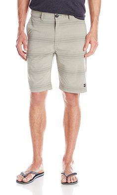 Billabong Men's Crossfire X Stripe Submersible Shorts, Gravel, 32 Best Price