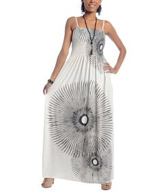 fd2e1baa97d2 Take a look at this White  amp  Black Abstract Burst Maxi Dress by  Shoreline Wear
