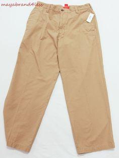 MEN'S IZOD LUXURY SPORT BASIX CLASSIC FIT PANTS STONE COTTON PANTS sz 34 #IZOD #KhakisChinos