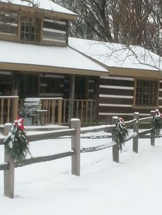 Our cabin with a little snow..tom and debbie...2013