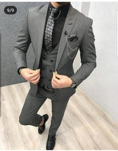 Baler Light Gray SlimFit is part of Suits Available Size 464850525456 Suit material wool, polyester Machine washable No Fitting slimfit Cutting double slits, cover pocket, doub - Mens Fashion Suits, Mens Suits, Mens 3 Piece Suits, Mens Casual Suits, Womens Fashion, Grey Slim Fit Suit, Mens Slim Fit Suits, Grey Suits, Mens Dark Grey Suit