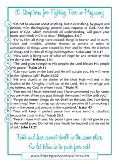 10 Scriptures for Fighting Fear in Pregnancy w/ printable
