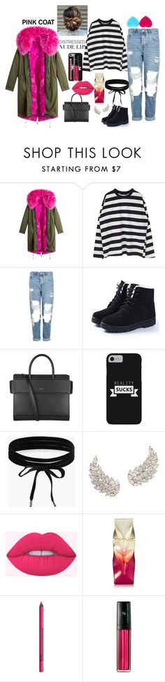 """""""love on my body cold day"""" by megi-queen on Polyvore featuring Topshop, Givenchy, Boohoo, Christian Louboutin and NYX"""