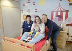 Little Emily Hambleton is one of the first children to stay in the new-look bedrooms at Brian House children's hospice.