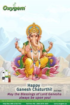 May the Blessings of Lord Ganesha always be upon you! Pipeline Project, Benefits Of Drinking Water, Happy Ganesh Chaturthi, Water Branding, Create Awareness, Lord Ganesha, Local Events, Blessings