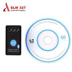 2017 Super Mini ELM327 Bluetooth on/off ELM 327 OBD2 / OBDII on Android Symbian Windows ELM327 V2.1 Version Free Shipping