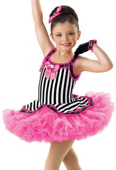 Girls' Striped Jazz Tutu Dress; Weissman Costumes