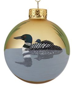 Hand-Painted Common Loons