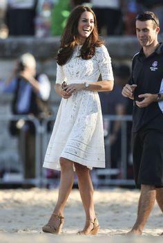La robe en dentelle de la Duchesse de Cambridge en Australie