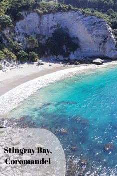 Stingray Bay is close to the populair Cathedral Cove in the Coromandel Peninsula. If you want less crowds, go for this great spot.'s easy to reach but a bit of a walk from Hahei Beach. Bergen, Cathedral, Beach, Water, Outdoor, Gripe Water, Outdoors, The Beach, Cathedrals