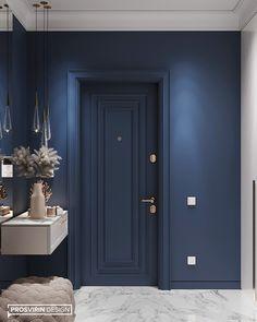 Project Azure on Behance Interior Door Styles, Door Design Interior, Main Door Design, Home Room Design, Interior Design Living Room, Interior Decorating, House Design, Flur Design, House Entrance