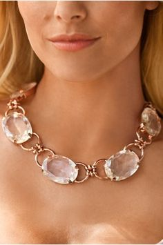 Boston ProperCrystal stone necklace