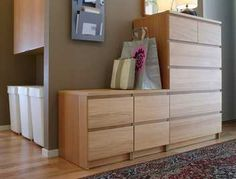 Chest of drawers: Malm Chest of 6 drawers H:123cm, white stained oak