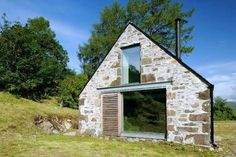 Good use of glass on barn conversion to create extra light and space - Rural Design Architects - Isle of Skye and the Highlands and Islands Architecture Renovation, Architecture Design, Stone Barns, Stone Houses, Larch Cladding, Small Barns, Rural House, Bothy, Building A House