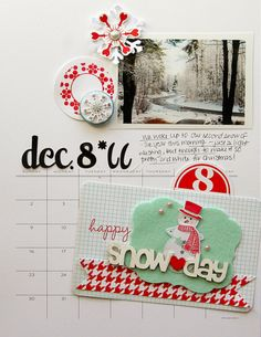 featuring the Snow Day line by Pink Paislee - REALLY LIKE THE B PRINT WITH THE BASIC COLORED ACCENTS.