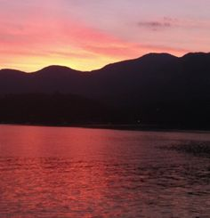 Sunset over Lake Lure, NC