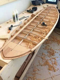 Building a surfboard